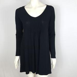 Eileen Fisher Pintuck Front Silk Dress